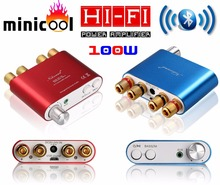 2017 New Nobsound NS-10G Mini TPA3116 Bluetooth 4.0 Digital Power Amplifier Stereo HiFi Amp Home Audio 50W*2 Red or Blue