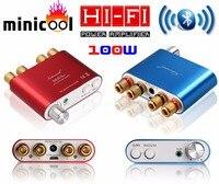 2017 Nuovo Nobsound NS-10G Mini TPA3116 Bluetooth 4.0 Digital Amplificatore di Potenza Stereo HiFi Amplificatore Home Audio 50 W * 2 rosso o Blu