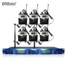 EM5012 IEM No Sistema de Monitor de Palco Profissional UHF Receptor de microfone de fone de ouvido Sem Fio Fone de Ouvido 6 mikrafon