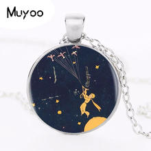New The Little Prince Pendant Necklace Glass Movie Photo Pendants Jewelry Silver Chain Handmade High Quaity Gifts For KIDS HZ1