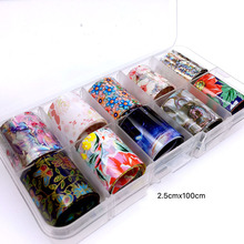 Holographic Nail Art Foil Set Easy Removing Beauty Transfer Wraps Adhesive Decals Decorations