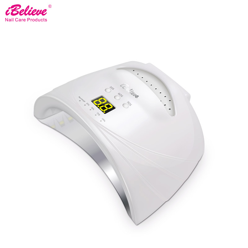 iBelieve 48w UV Lamp LED Nail Dryer Wireless uv led gel lamp nail For All Gels