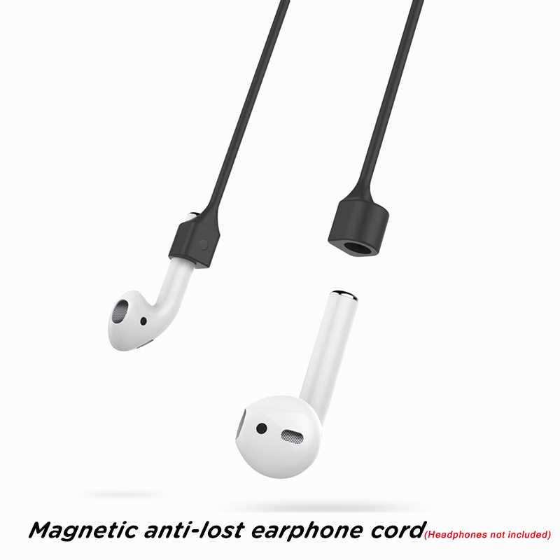 Магнитный ремешок для наушников для Apple аксессуары для Airpods анти-потеря наушников Магнитный шнур силиконовый шнур-кабель для Airpods