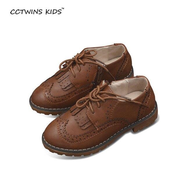 CCTWINS KIDS spring baby shoe children PU leather shoe girl fringe shoe kid oxford shoe boy brand tassel flat black red brown