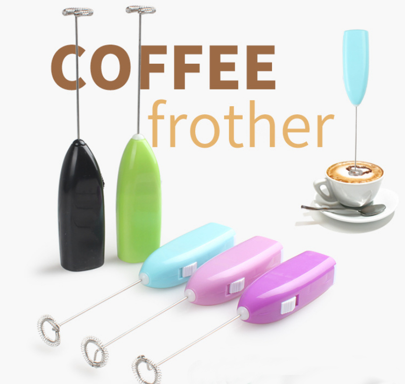 Coffee Electric Milk Frother Foamer Drink Whisk Mixer Egg Beater Mini Handle Stirrer Kitchen Tool mini handheld electric whisk mixer coffee milk drink frother foamer rother egg beater handle mixer stirrer baking free shipping