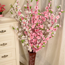 1 PCS 50inch Artificial Cherry Spring Plum Peach Blossom Branch Silk Flower Tree For Wedding Party Decors T0.5