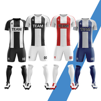 Wholesale 2019 New Men Kids Soccer Jerseys Set Boys Women Football Training Uniforms Team Football Jerseys Sets Print