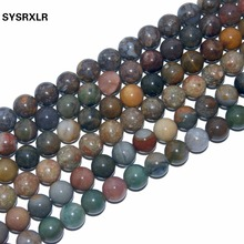 Wholesale 17 Style Charm Natural Stone Beads  Agates For Jewelry Making DIY Bracelet 6 8 10 12 MM Strand 15