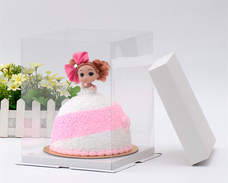 8 Count For 6 Inch Clear Plastic Bakery Cake Packing Storage Boxes