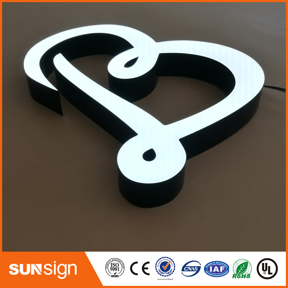 LED Epoxy Resin Letter Signage Led Advertisement Sign Board For Shops