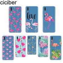 ciciber Pink Flamingo Fundas For Huawei P20 P10 P9 P8 Pro Plus Lite 2017 P smart 2019 Soft Silicone TPU Clear Phone Cases Animal