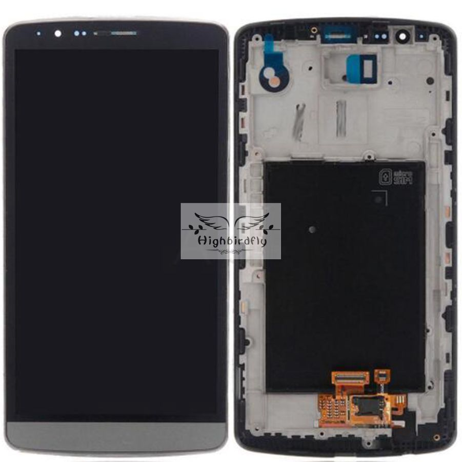 LCD Display+Touch Screen Digitizer +frame assembly For LG G3 D850 D855 Pantalla replacement lcd white/black color