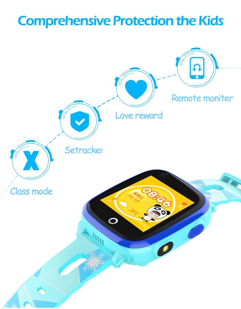 4G Camera GPS Watches WI-FI Kids Children Students Smart Wristwatch Sim Card/SOS/Video Call/ Monitor Tracker Location Waterproof 5