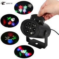4 Patterns LED Christmas Snowflake Projector LED Disco Light DJ KTV Laser Stage Lighting Halloween Indoor
