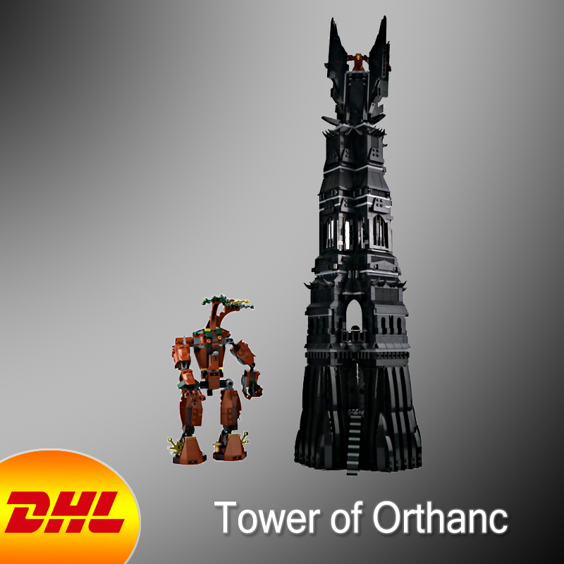 HF Movie Figures 2430Pcs Lord of the Rings The Tower of Orthanc Model Building Kits Blocks Bricks Toys For Children Gift 10237 single sale medieval castle knights dragon knights the hobbits lord of the rings figures with armor building blocks brick toys