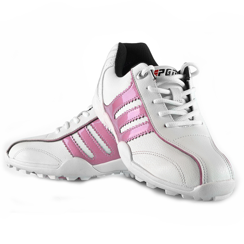 ФОТО PGM Brand Hottest Golf Shoes Children Boy Leather PU Waterproof Trainers Shoes Girls Running Cool Golf Sportwear Shoes 2017