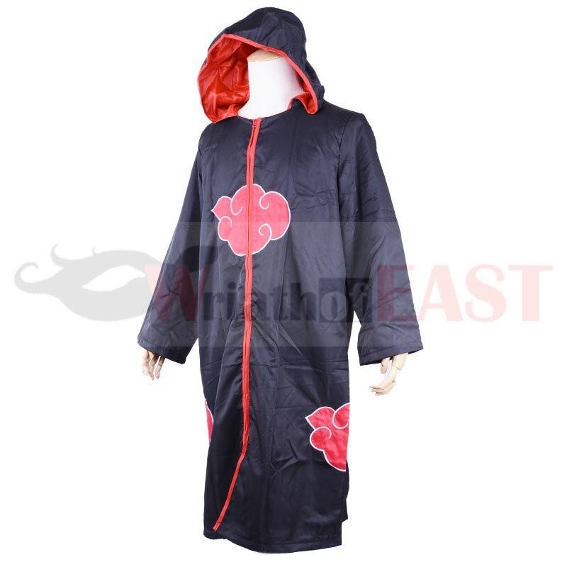 Aliexpress.com  Comprar Anime japonés akatsuki Cosplay Naruto organización  akatsuki miembros capa uniforme ninja Sasuke traje con capucha de Disfraces  anime ... abad595163d