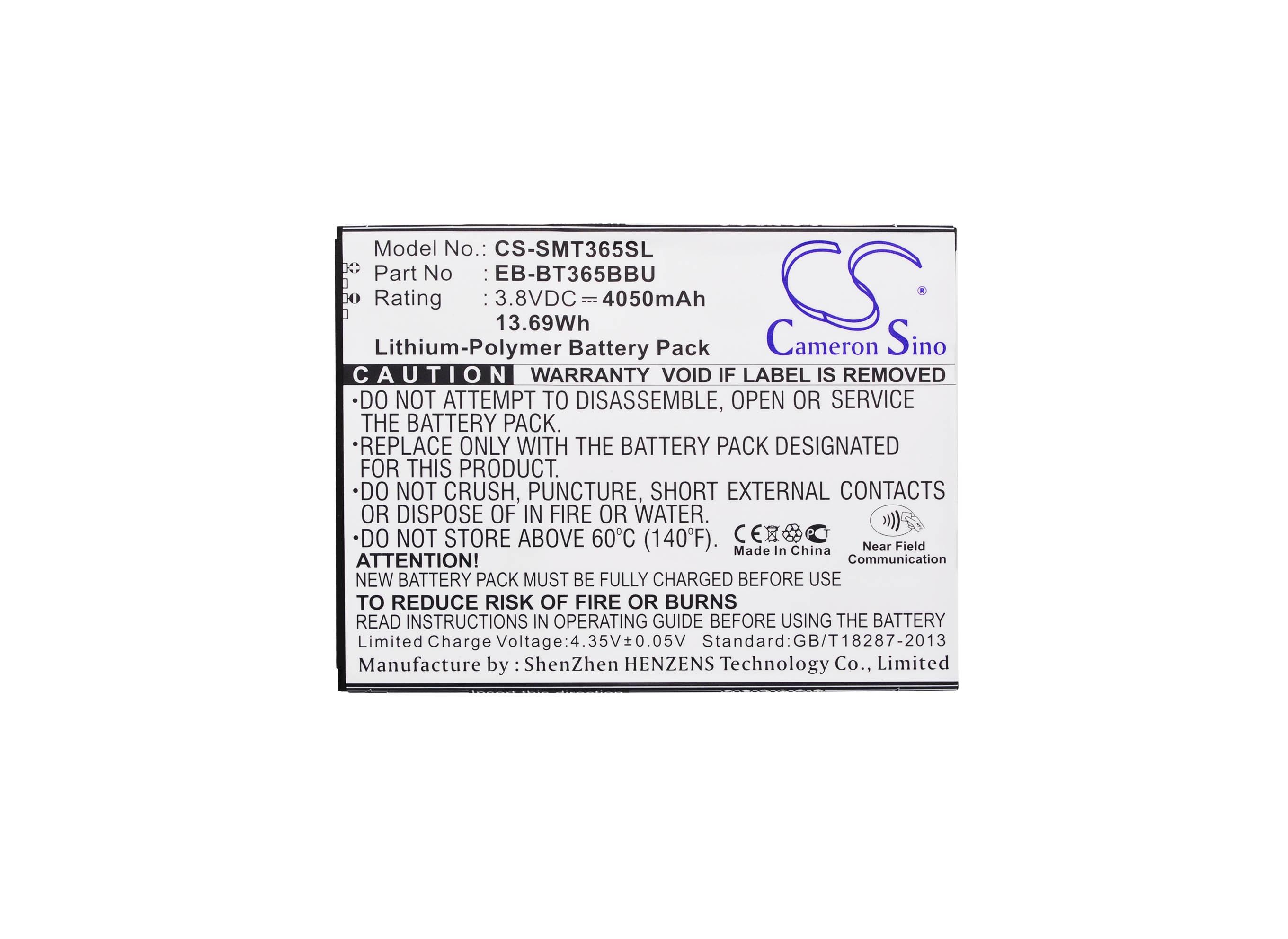 EB-BT365BBU Cameron Sino 4050 mAh Bateria para o Samsung Galaxy Tab Ativo, SM-T360, SM-T360NNGAXAR, SM-T360UD, SM-T365, SM-T365F0
