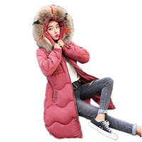New Arrival Winter Women Jacket A Line 2018 Fashion Down Cotton Jacket Winter Women Parkas Plus Size 3XL Office Lady Warm CQ2162