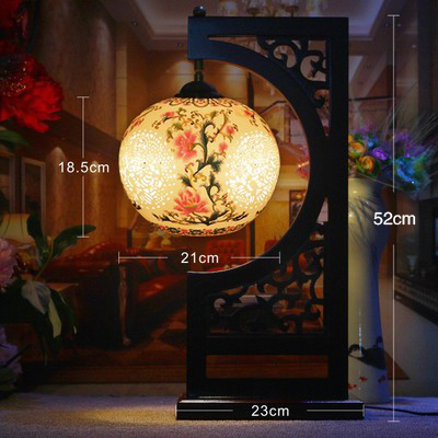 Traditional led table lamp jingdezhen ceramic wood lamp e27 220v traditional led table lamp jingdezhen ceramic wood lamp e27 220v 110v for bedroom hotel villa company mozeypictures Gallery