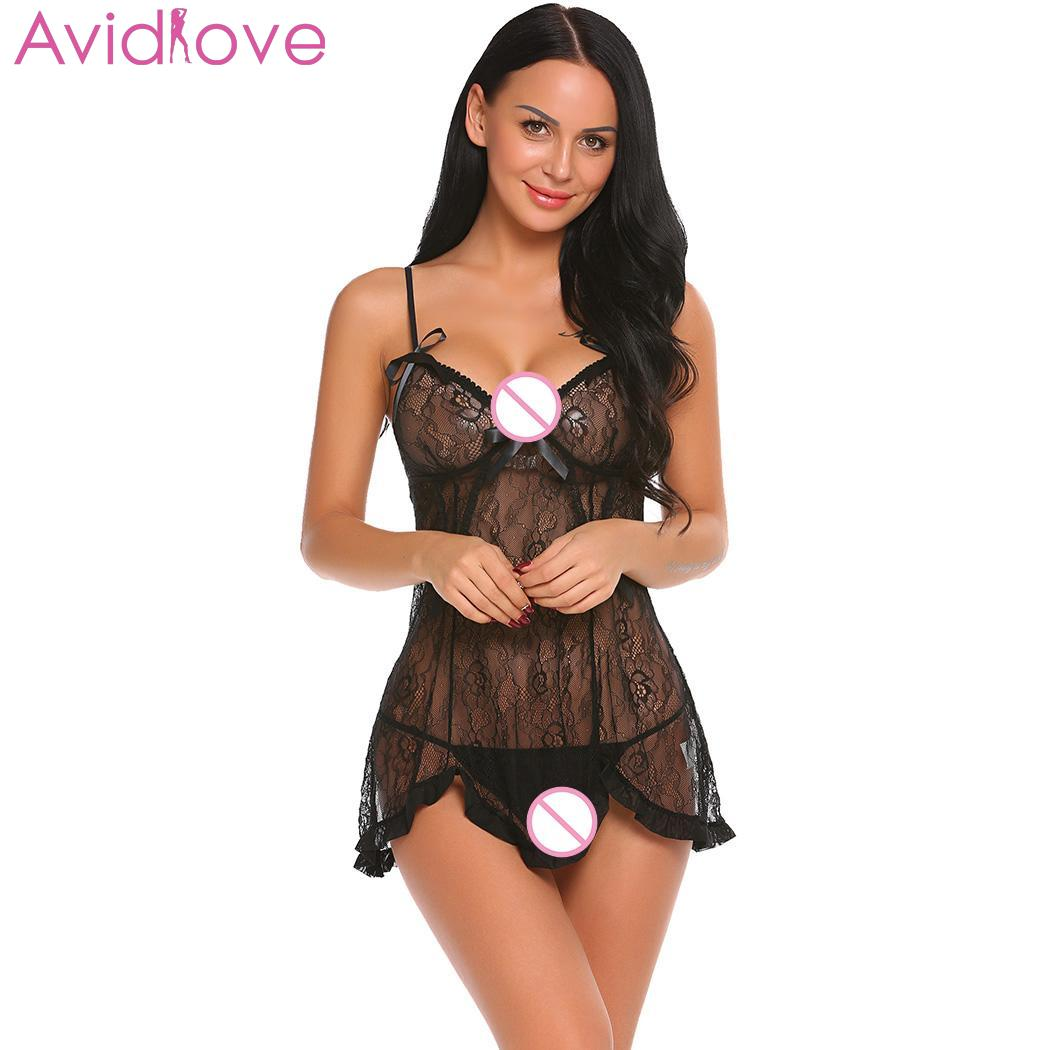 Buy Avidlove Women Sexy Underwear Sexy Lingerie Erotic Costumes Babydoll  G-string Sheer Lace Babydoll
