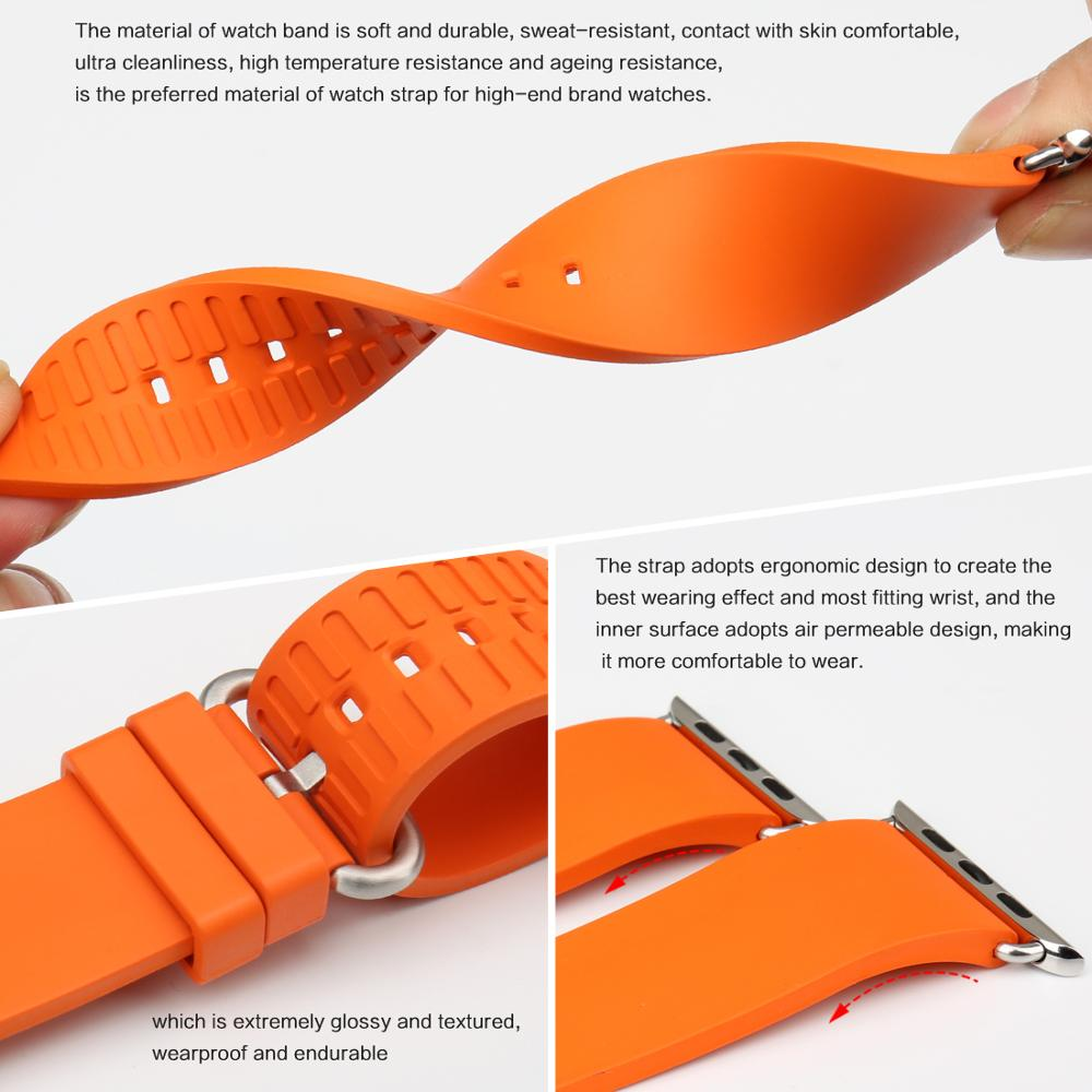 Pasek do zegarka MAIKES Sport Watchband Akcesoria do zegarków Apple - Akcesoria do zegarków - Zdjęcie 4