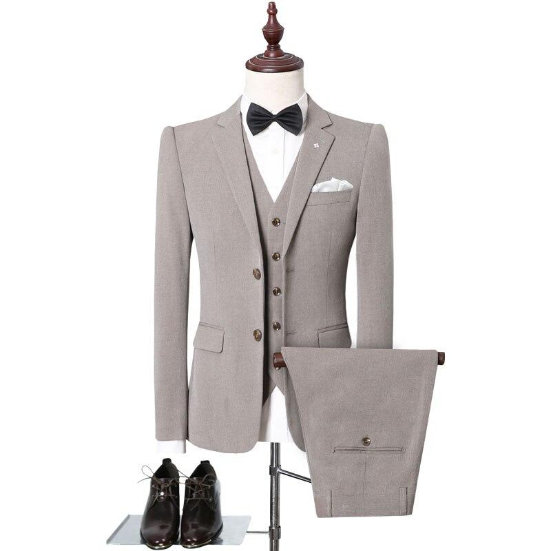 US $88.88 49% OFF|Business Formal Men Suits Plus Size 5XL British Solid  Back Side Cuts Vintage Wedding Suit Sets Man Dress Slim Fit Brand  Clothing-in ...