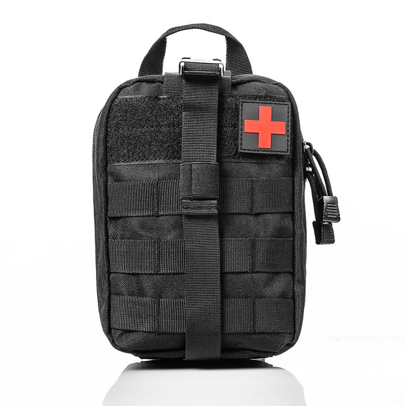 Nylon Black Color Tactical Bag Travel First Aid Oxford Cloth  Emergency Case Survival Kit Camping Camping Climbing Waist Pack