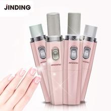 JINDING Electric Nail Drill Machine Manicure Set 4 in 1 Pink Nail Polisher Scrub Exfoliator Grinding