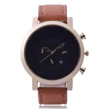 New sports men's calendar belt watch simple scale large dial quartz watch цена