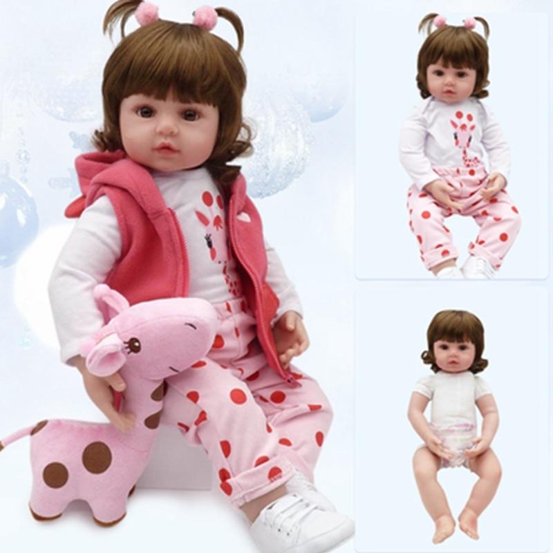 28cm/46cm Reborn Doll Soft Silicone Reborn Baby Dolls Vinyl Toys 3-7 Years Baby Dolls Gift Kids Birthday Gift Boneca Reborn