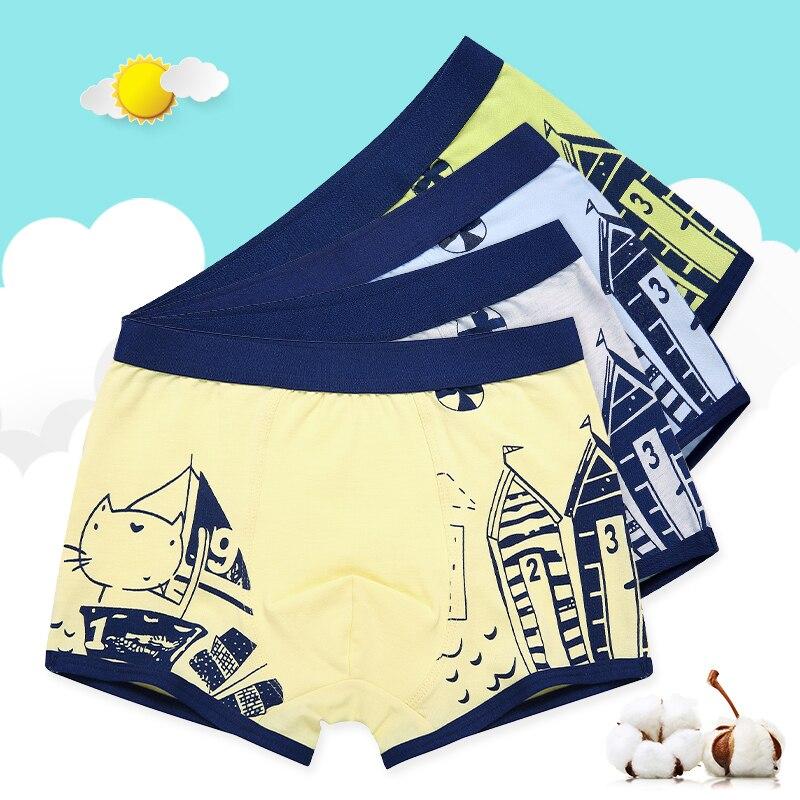 4pcs/lot 2019 Teen Panties Shorts Boy Boxer Enfant Garcon Panties For Children Boys Underwear Cotton  For 4-16 Y