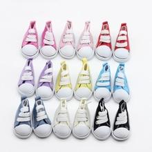 9color Assorted 5cm Canvas Shoes For BJD Doll Fashion Mini Toy Shoes Sneaker Bjd Doll Shoes for Russian Doll Accessories et013