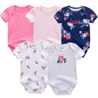 5PCS Set Newborn Baby Rompers Boy Playsuit Clothes 100 Cotton Striped Cute Jumpsuit Infant Girl Body