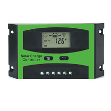 40A 50A 60A PWM 12V 24V LCD Solar System Controller Solar cells Panel Battery Charger Regulator