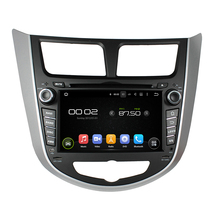 7″ Android 6.0 Octa-core Car Multimedia Player For HYUNDAI Verna Accent Solaris 2011-2012 MAP Video Audio Stereo Car DVD Player