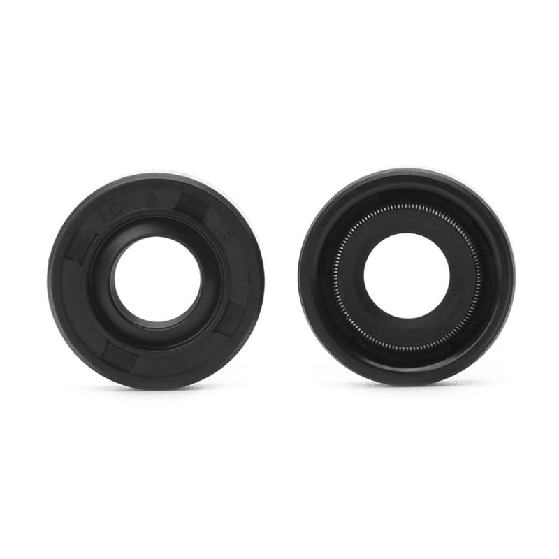 2pcs 8x18x7mm Wearable Breadmaker Sorbet Machine Blender Repair Parts Oil Seal Ring