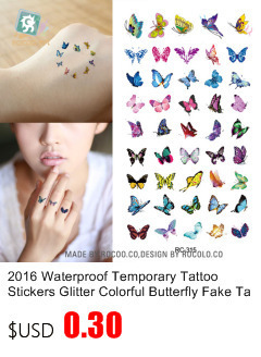 16 New Water Transfer Tattoo Golden Gold Design Cute Pink Hello Kitty Fake Glitter Metallic Temporary Tattoo Stickers Body Art 10
