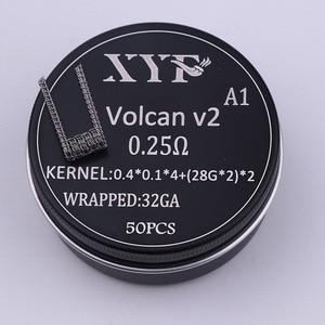 Image 4 - XYF 50 шт., катушка clapton Alien v2, нагревательная проволока для RDA RBA, ремонтная катушка атомайзера, катушка для электронной сигареты, катушка испарителя