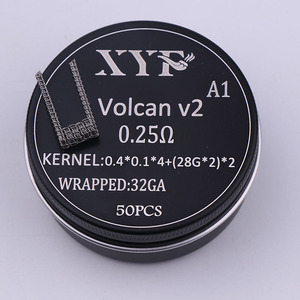 Image 4 - XYF 50ชิ้นแคลปตันขดลวดคนต่างด้าวv2ร้อนลวดสำหรับRDA RBA Rebuildableขดลวดเครื่องฉีดน้ำบุหรี่อิเล็กทรอนิกส์Vaporizerขดลวดลวด