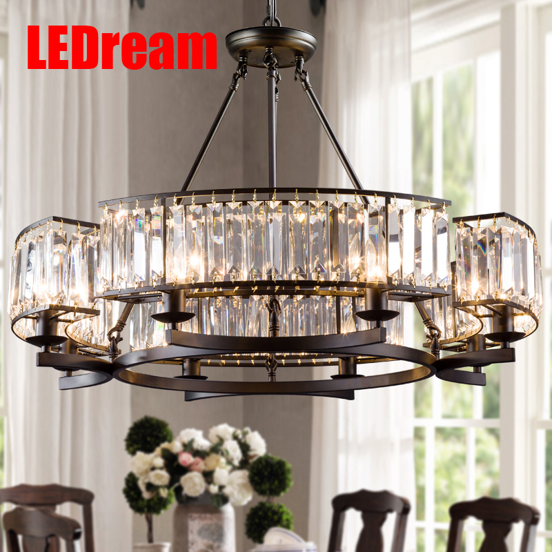 American droplight Jane the French crystal droplight Mediterranean dining-room sitting room double droplight cafe bars lamps and ledream restaurant droplight northern american industrial wind restoring ancient ways droplight cafe dining room
