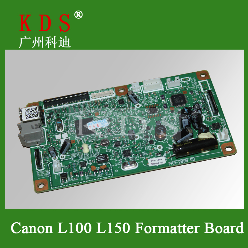 Bulk Price 5 pieces/lots PT093 Logic Board For Canon L100 L150 Formatter Board Original and New Officejet Printer Parts best price 5pin cable for outdoor printer