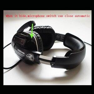 Image 4 - سماعة رأس سماعة الألعاب 7.1 الصوت Usb السلكية الاهتزاز سماعات مع ميكروفون الكمبيوتر المحمول العلامة التجارية الأصلية Somic G909 برو