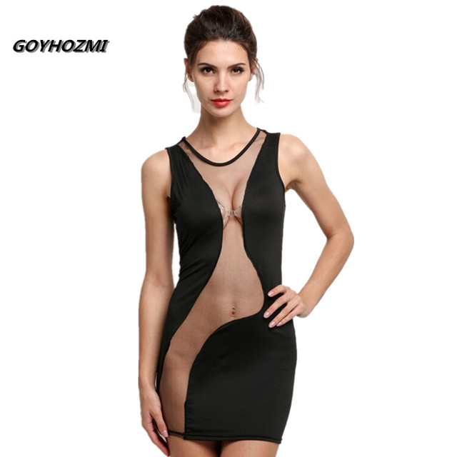 GOYHOZMI  summer women's back hollow out sexy party night dress