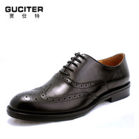Goodyear Welted Brogues Mens Shoe Hand Classic Brock Carve Patterns Hand Made Shoes Genuine Leather Checking
