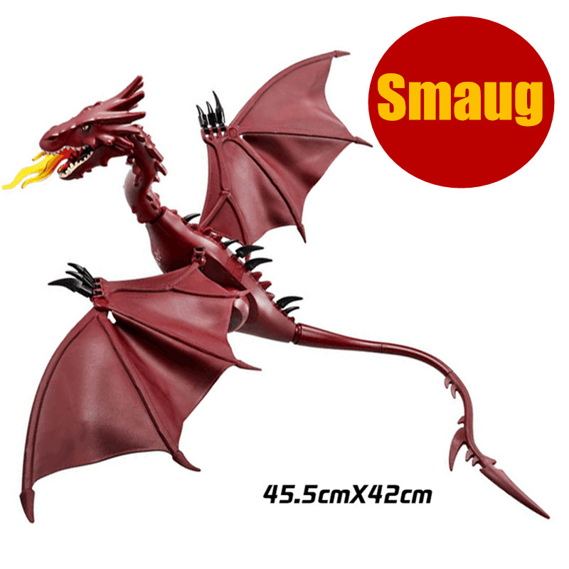 Building Blocks dragon Smaug The Lord of the Rings Hobbit Lonely Mountain Dol Guldor Battle diy figures Models Bricks Kids Toys pg931 the hobbit desolation of smaug 79018 the lonely mountain dol guldor battle building blocks educationa compatible with lpin
