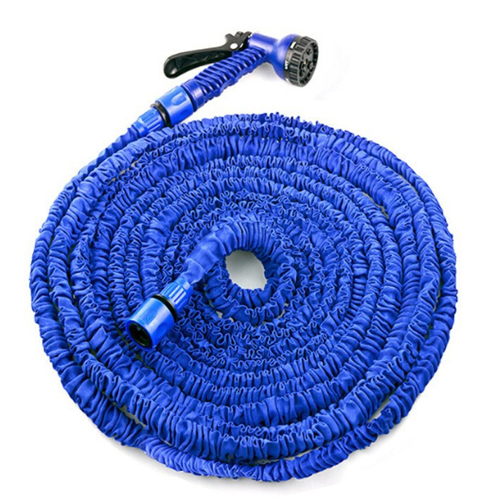 BLUE 100FT Expandable Magic Flexible Hose Water for Garden Car Pipe Plastic Hoses to Watering with Spray Gun