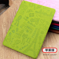 3D Embossing Case For Ipad Air 2 PU Leather Smart Case for iPad Air 2 in Unique Paris style Auto smart sleep wake up Design