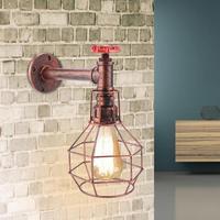 E26/E27 Retro Style Wall Lamp Antique Pipe Fixture For Cafe Bar Hallway AC 110 240V