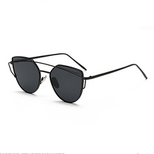 Designer Twin-Beams Mirror Sunglasses